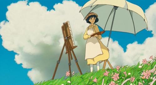 wind-rises-2013-nahoko-satomi-painting-hillside-umbrella