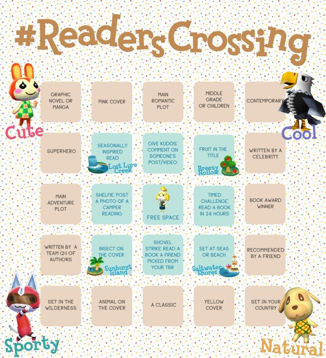 #ReadersCrossingBingoBoard